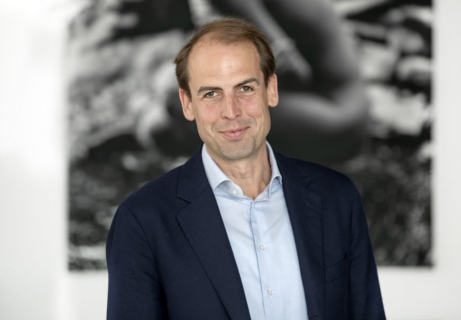 Dagvoorzitter Erik Peekel